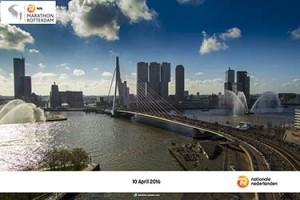 Harlopen tijdens de marathon Rotterdam